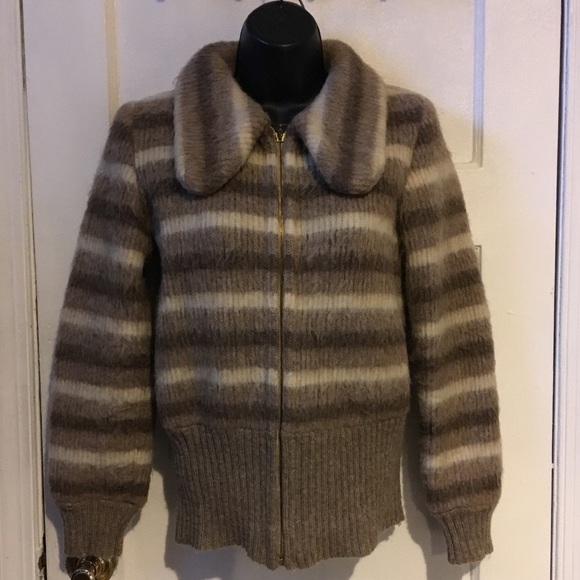 Ice Wool Jackets & Blazers - Vintage Ice Wool Sweater Bomber
